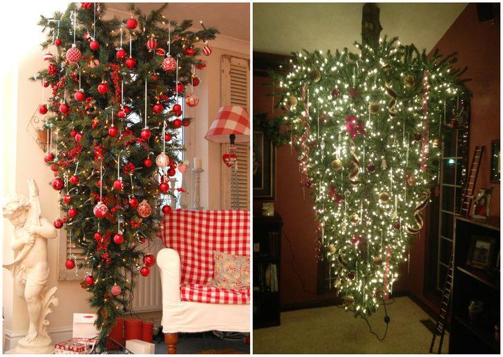 Cây thông Noel lộn ngược độc đáo