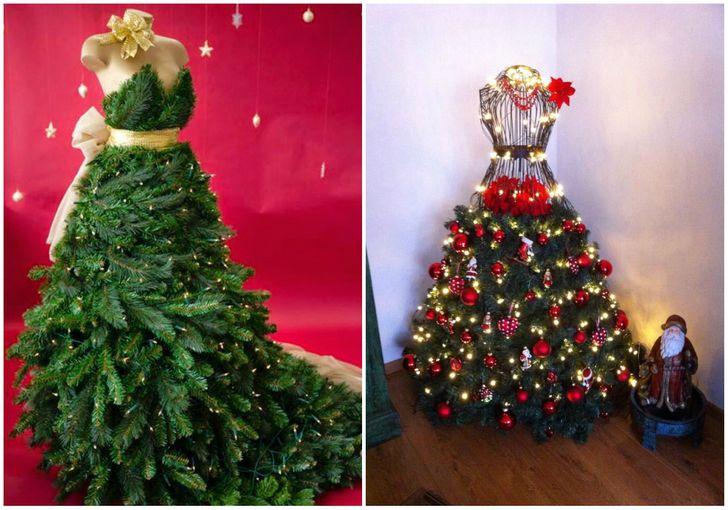 Cây thông Noel tạo hình váy dạ hội