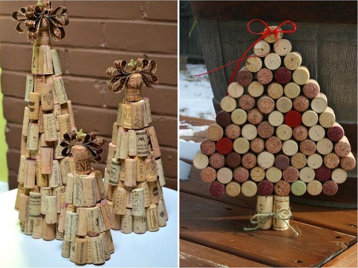 Tự làm cây thông Noel handmade từ nút chai rượu
