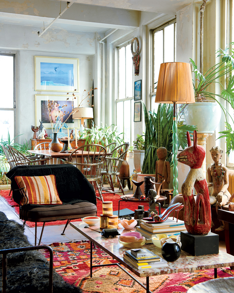 Chất liệu gỗ trong thiết kế nội thất phong cách Bohemian