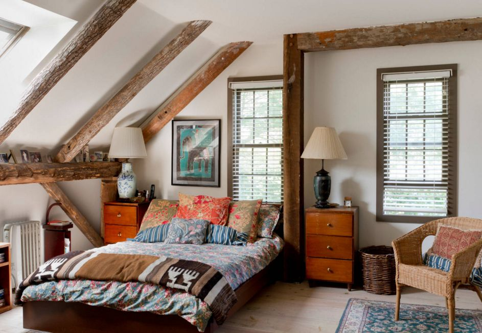 Phòng ngủ trên tầng áp mái theo phong cách Bohemian