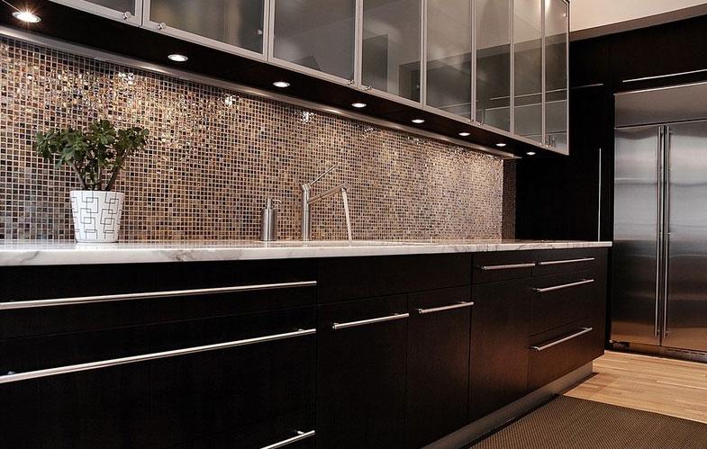 Phòng bếp ốp gạch Mosaic