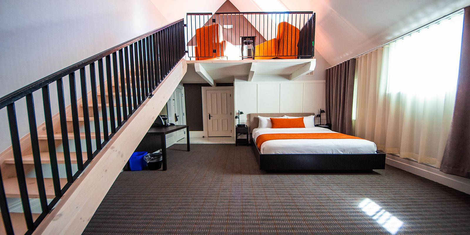 mẫu nhà gác lửng 2 phòng ngủ