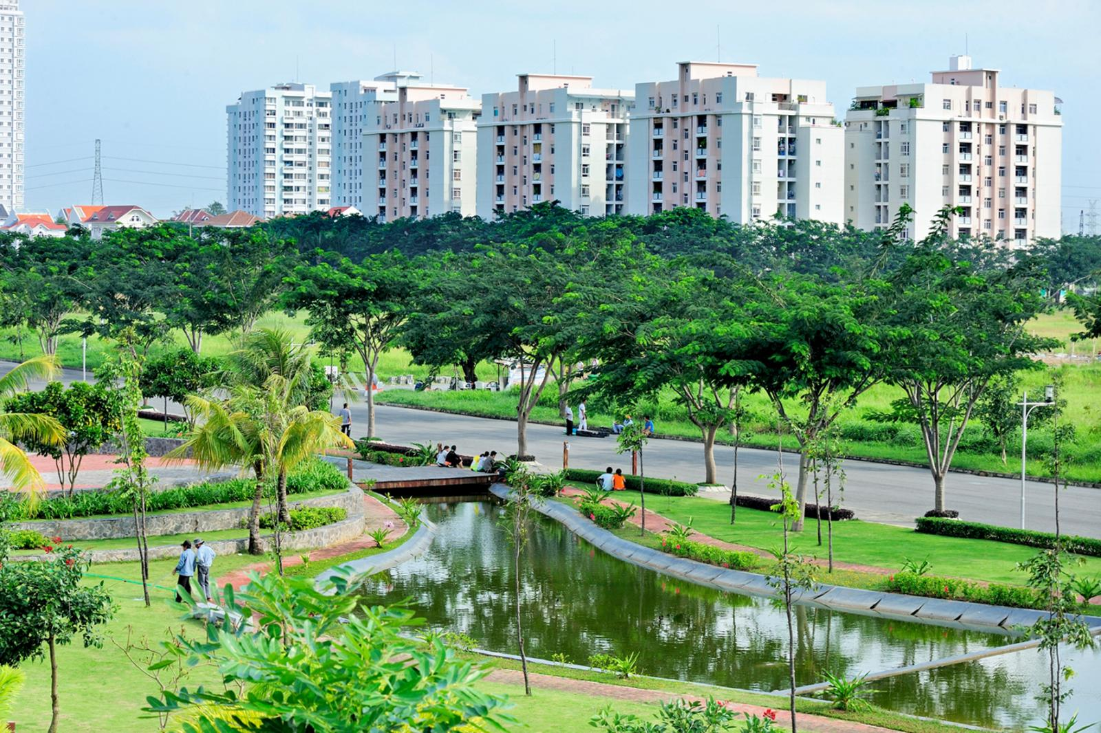 hình ảnh một dự án bất động sản xanh
