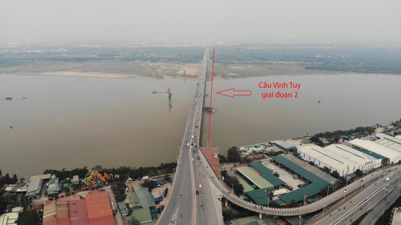 cầu bắc qua sông, nhiều công trình nhà ở