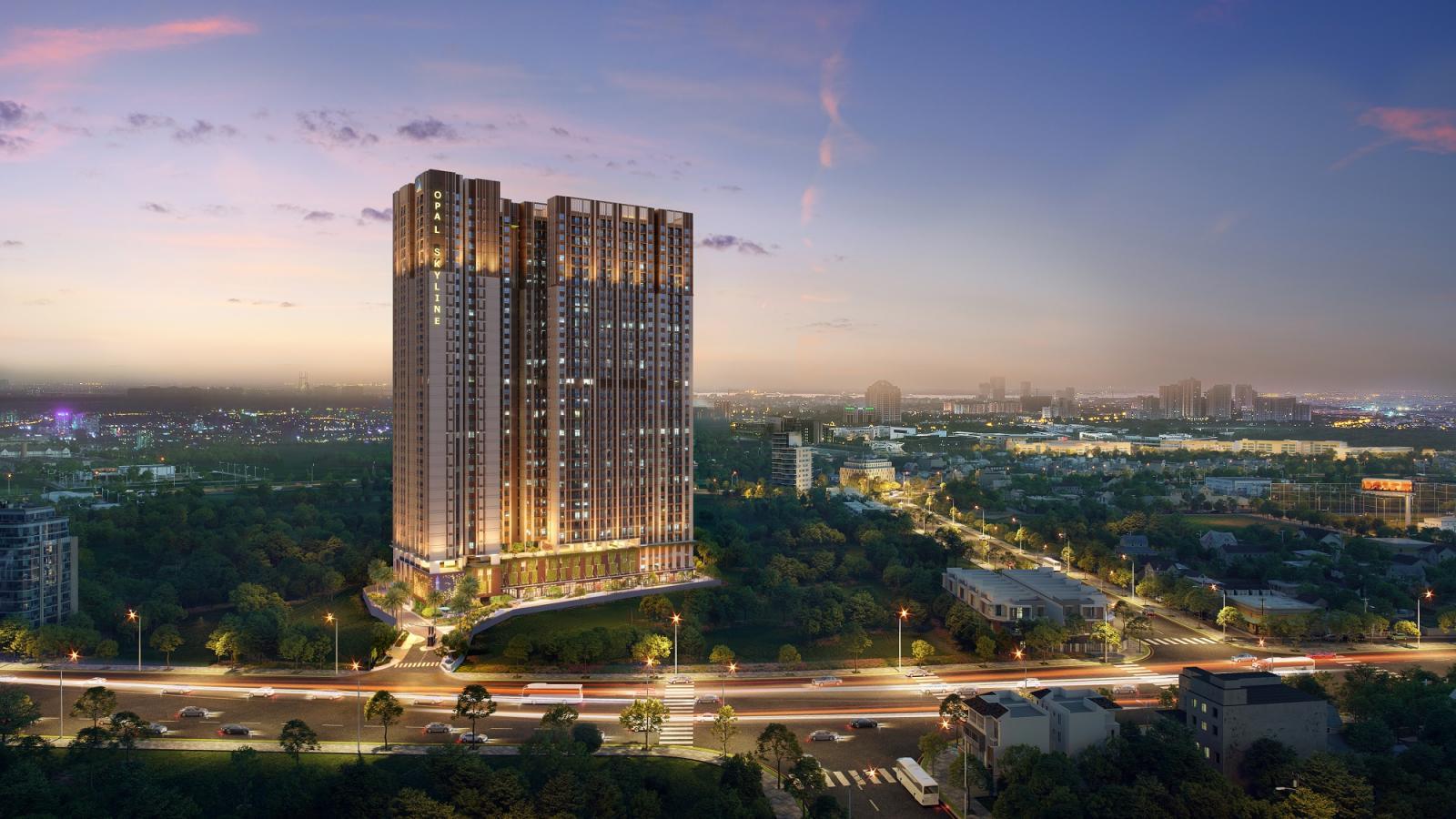 Dự án Khu căn hộ cao cấp Opal Skyline sở hữu vị trí độc tôn và tiện ích nội khu cao cấp