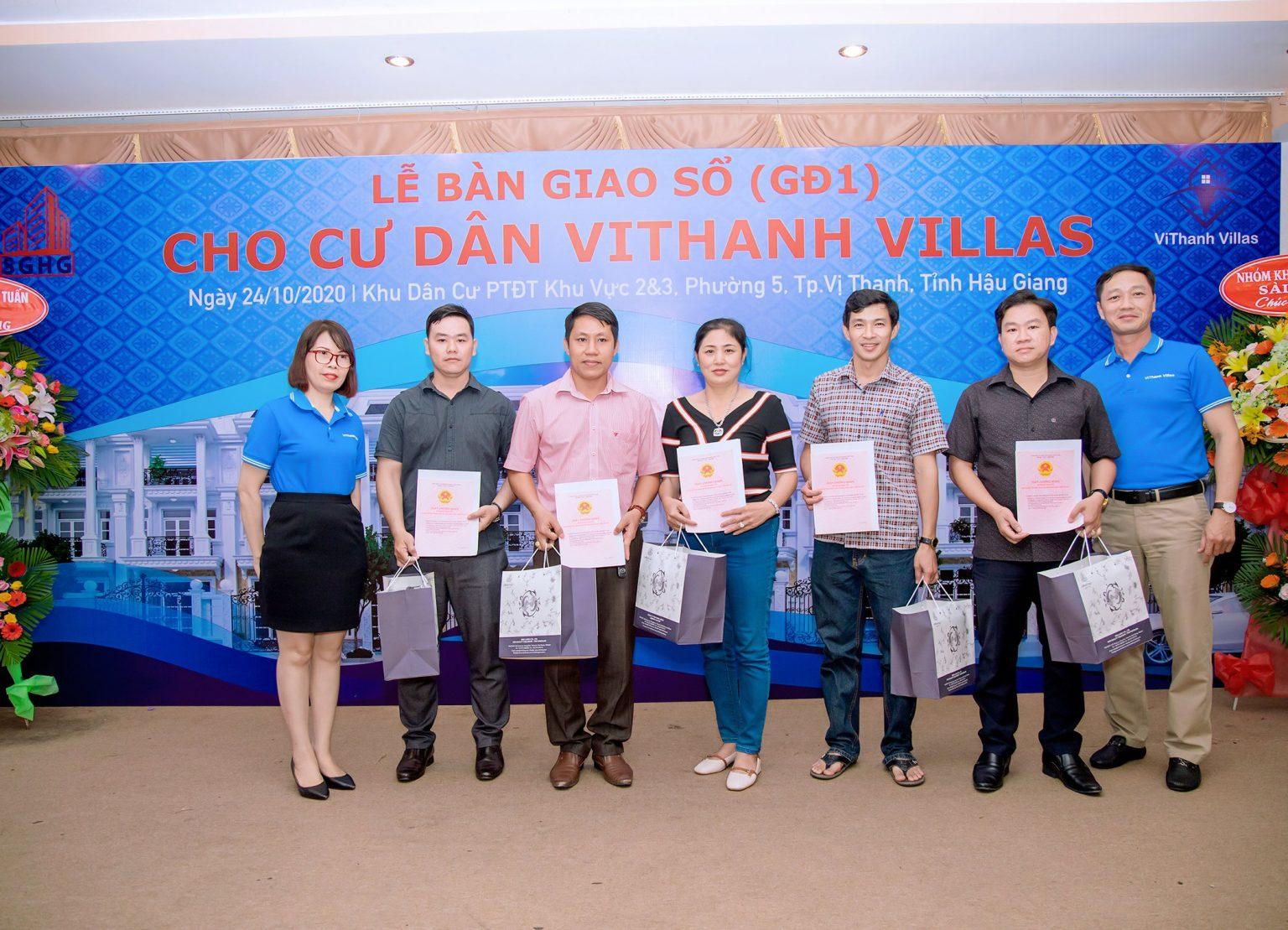 Lễ bàn giao (GĐ1) cho cư dân ViThanh Villas ngày 24/10/2020