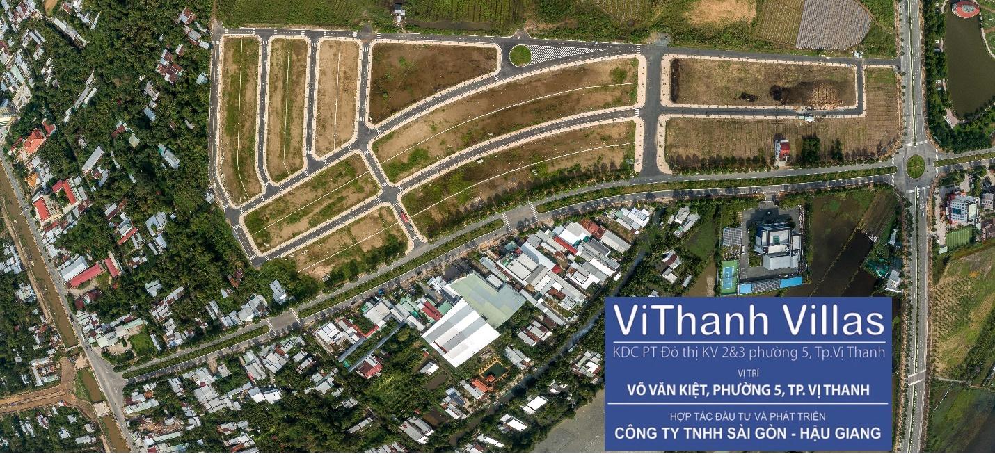 Toàn cảnh dự án ViThanh Villas đang được đầu tư và phát triển