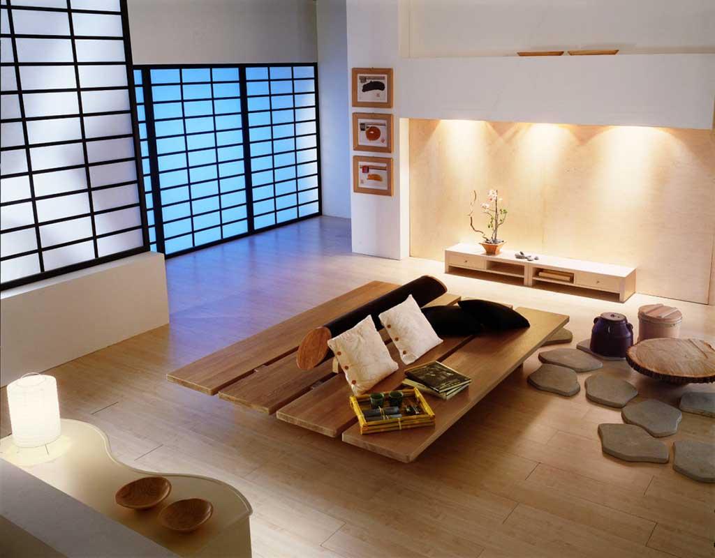 Phong cách Zen chuộng sử dụng các tông màu tự nhiên, trung tính như trắng, kem, be, nâu gỗ