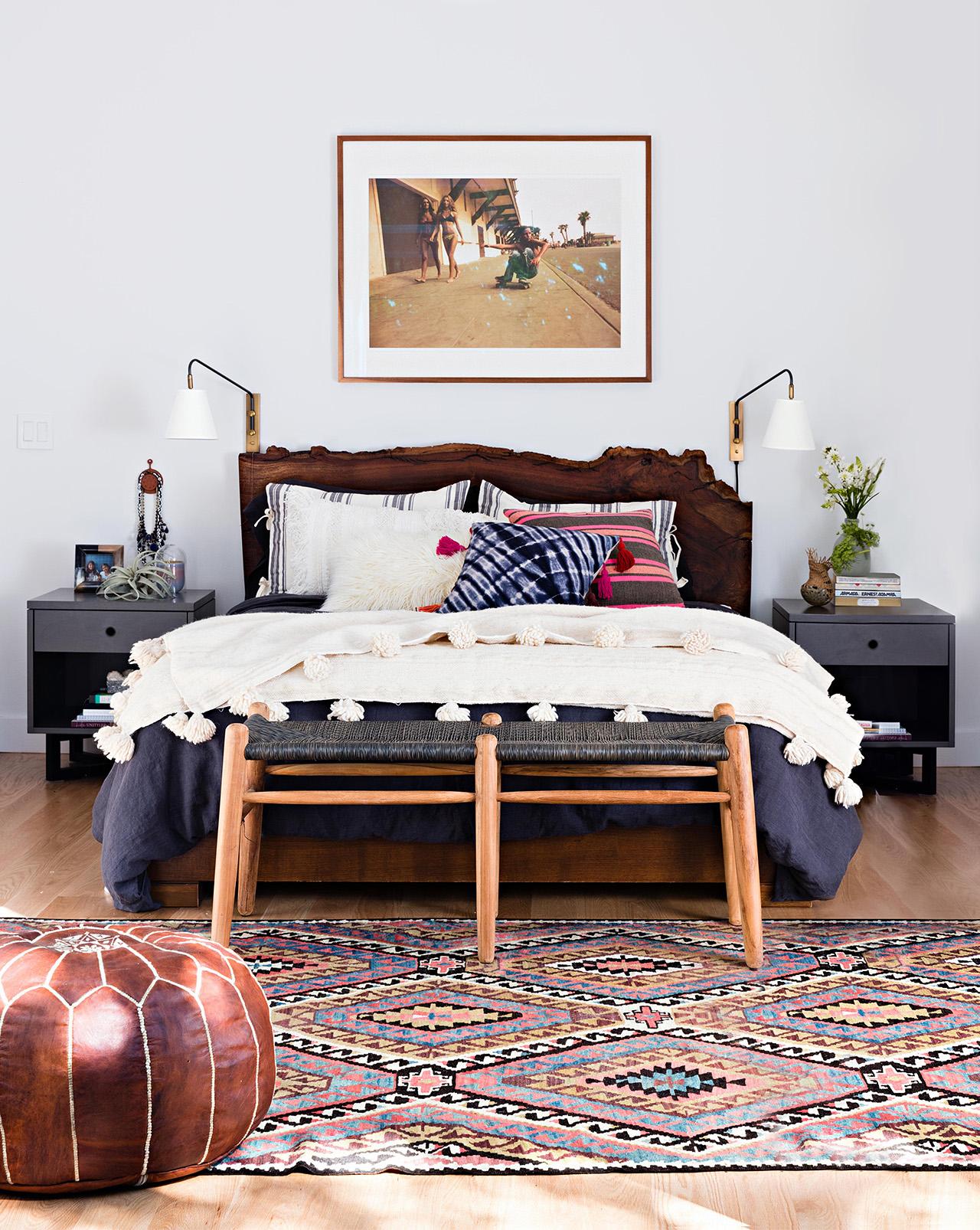 đầu giường bằng gỗ độc đáo