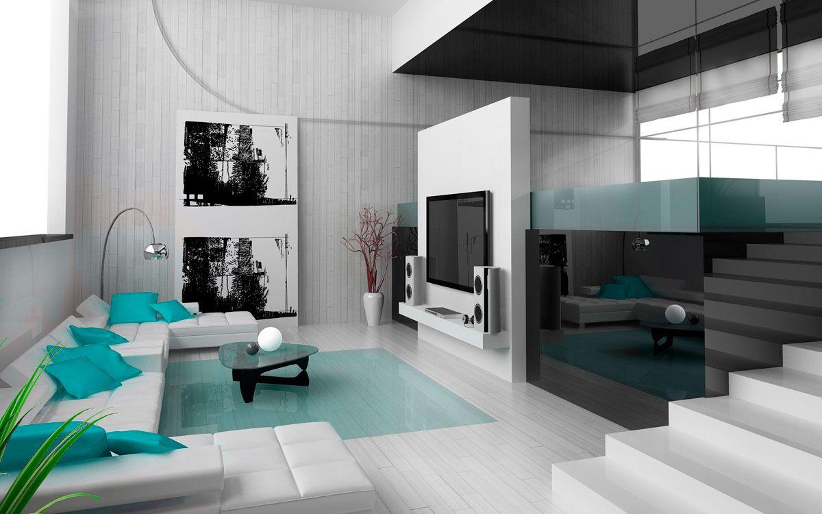 Phòng khách thiết kế theo phong cách Hitech