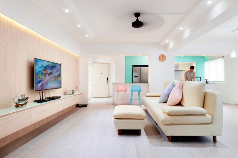 Đường nét thiết kế nội thất phong cách Scandinavia tối giản kết hợp với những gam màu pastel