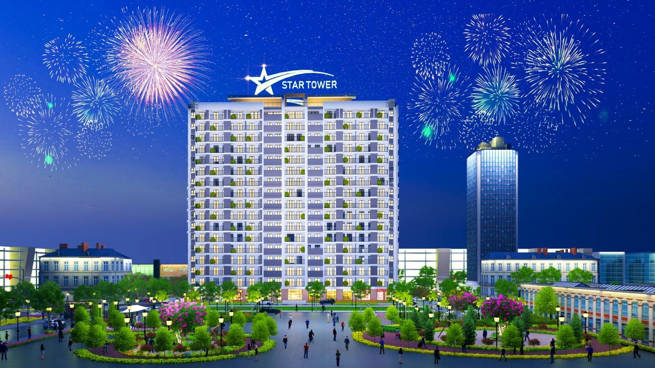 Phối cảnh chung cư Star Tower Thuận An