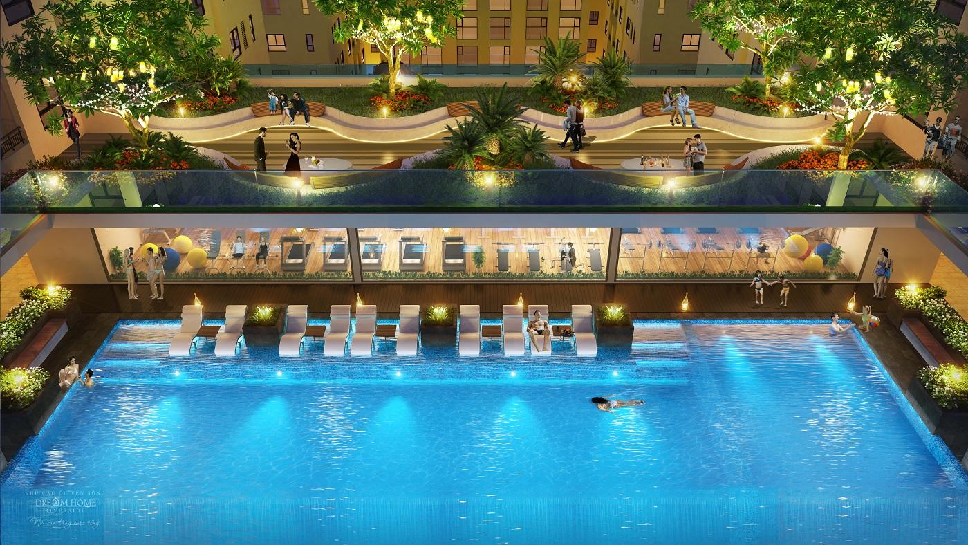 Phối cảnh bể bơi Dream Home Riverside