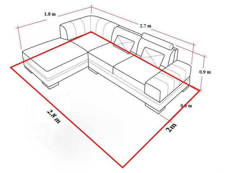 Cách trải thảm phòng khách kiểu phủ bì