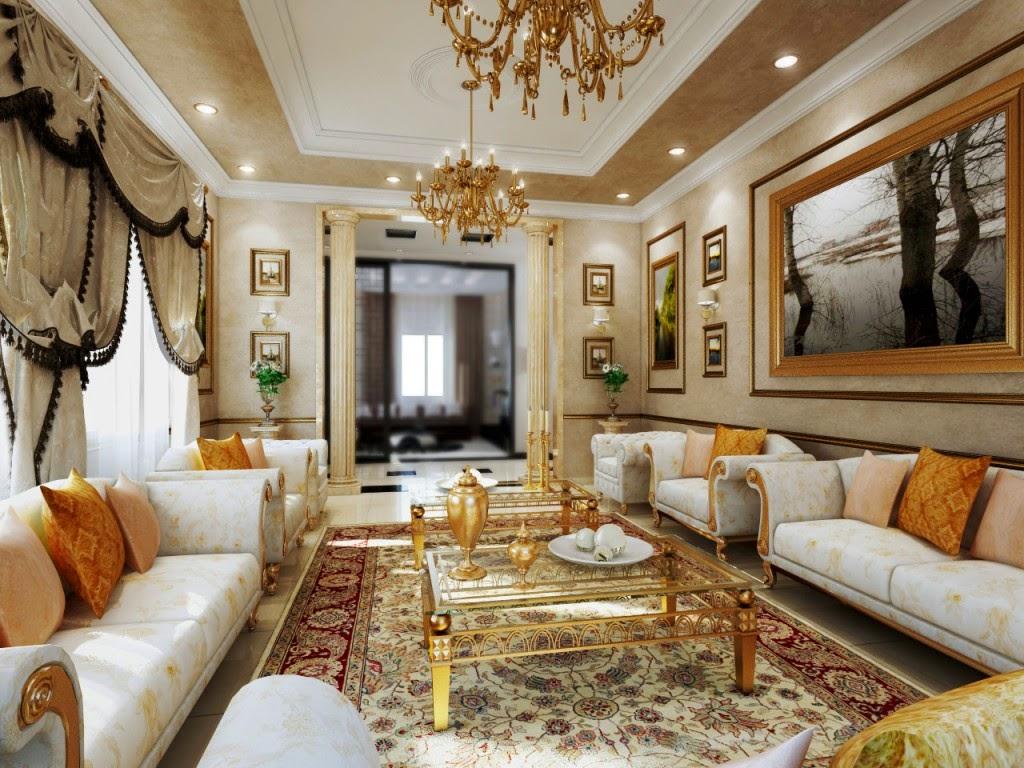 Thiết kế phòng khách theo phong cách cổ điển