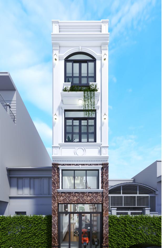 Thiết kế mặt tiền nhà phố không có ban công 5