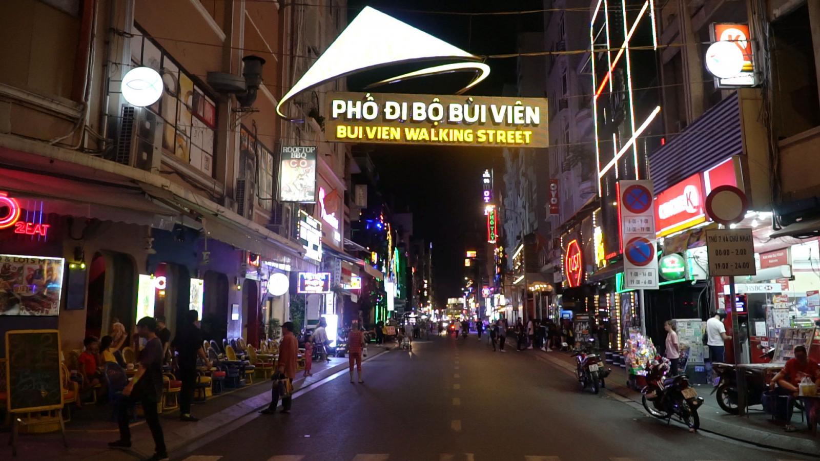Phố đi bộ Bùi Viện Hồ Chí Minh