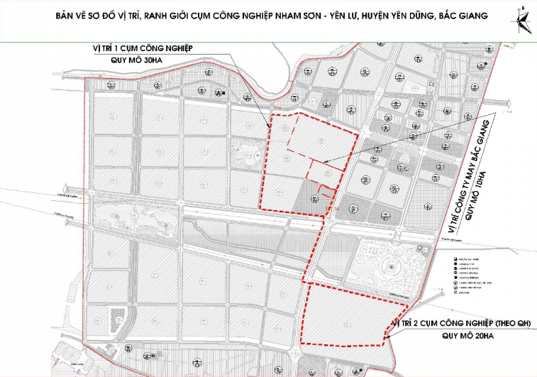 bản đồ thể hiện vị trí khu công nghiệp