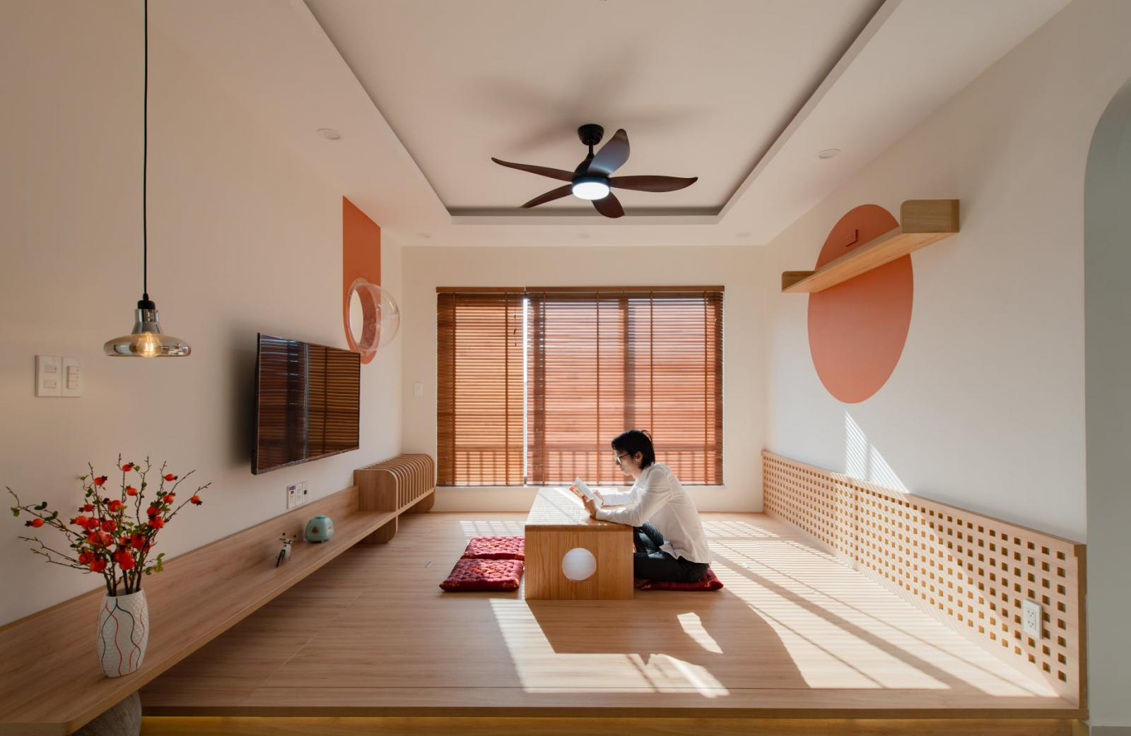 Phòng khách mang phong cách thiền