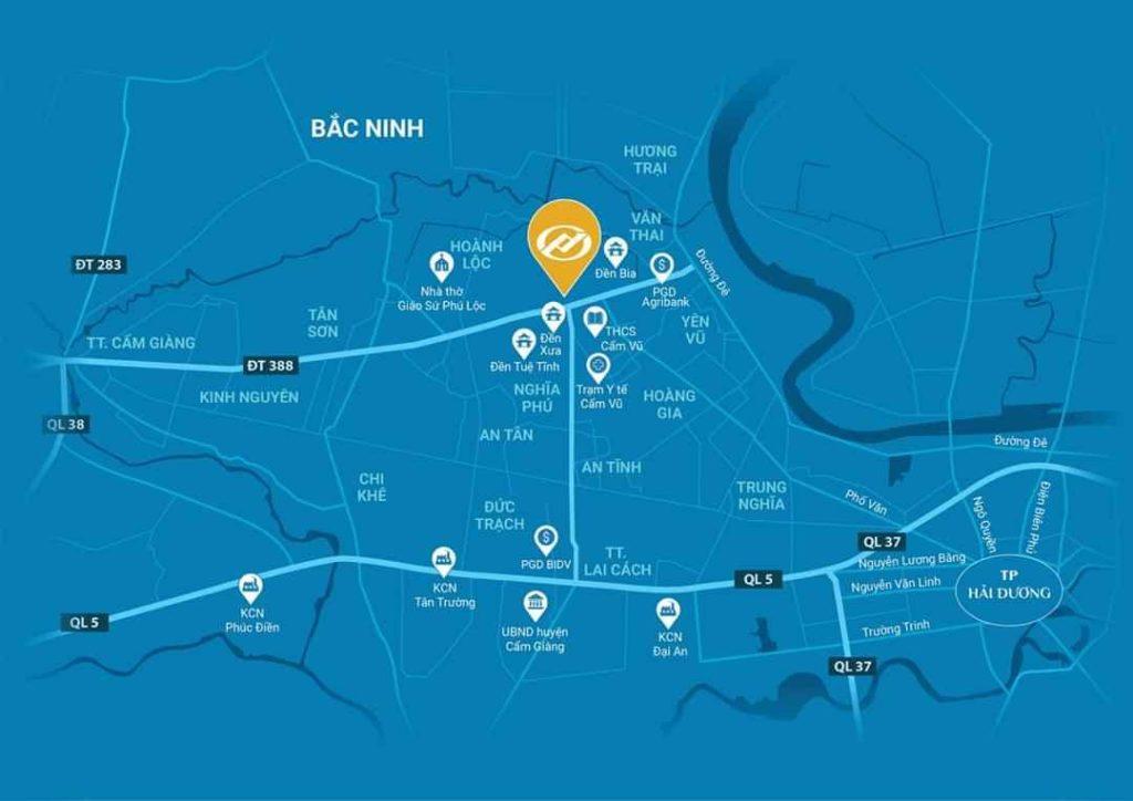 Vị trí dự án KDC Thương mại và Chợ Phú Lộc