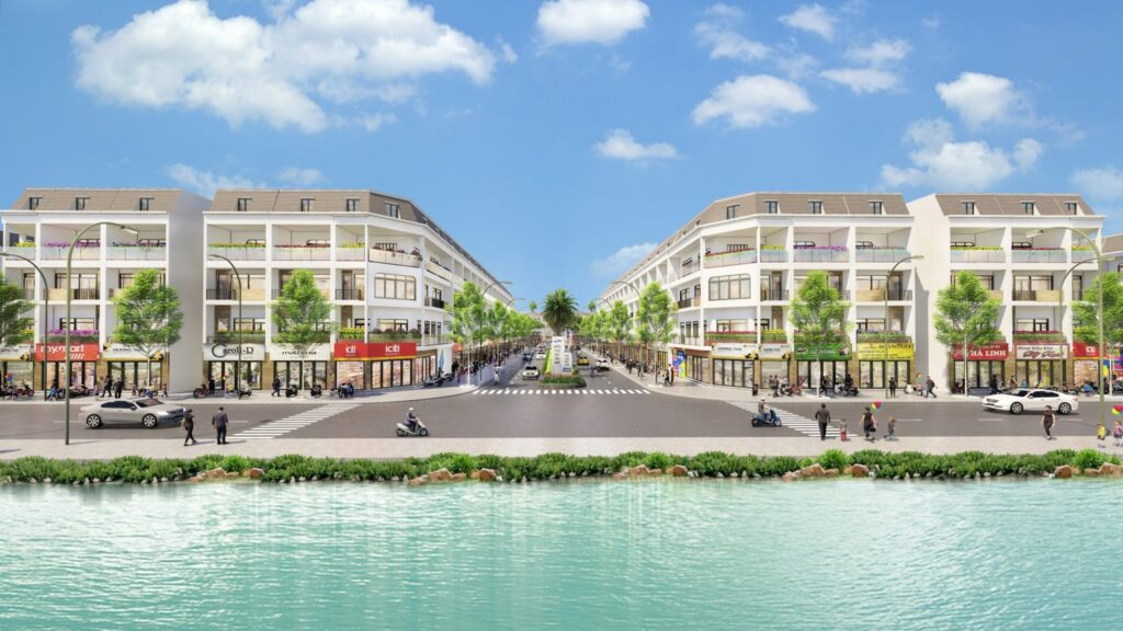Phối ảnh nhà phố thương mại tại Khu dân cư Thương mại và Chợ Phú Lộc