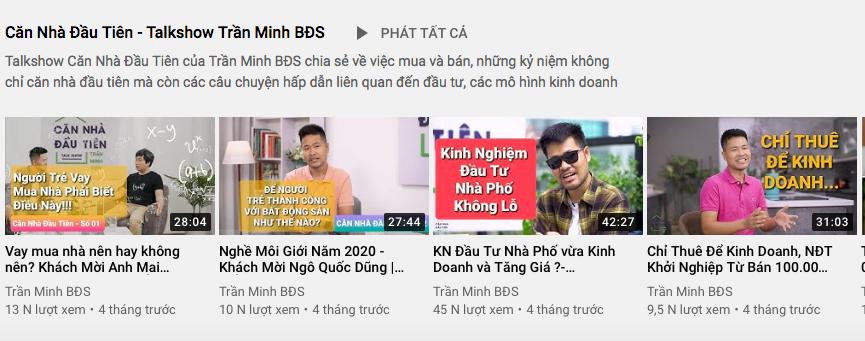 hình ảnh kênh youtube Trần Minh BĐS