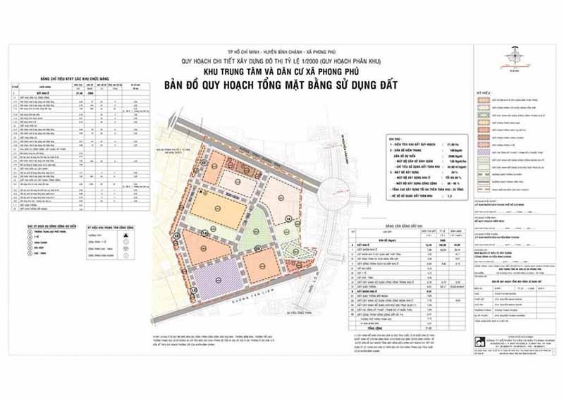 bản đồ quy hoạch xã Phong Phú