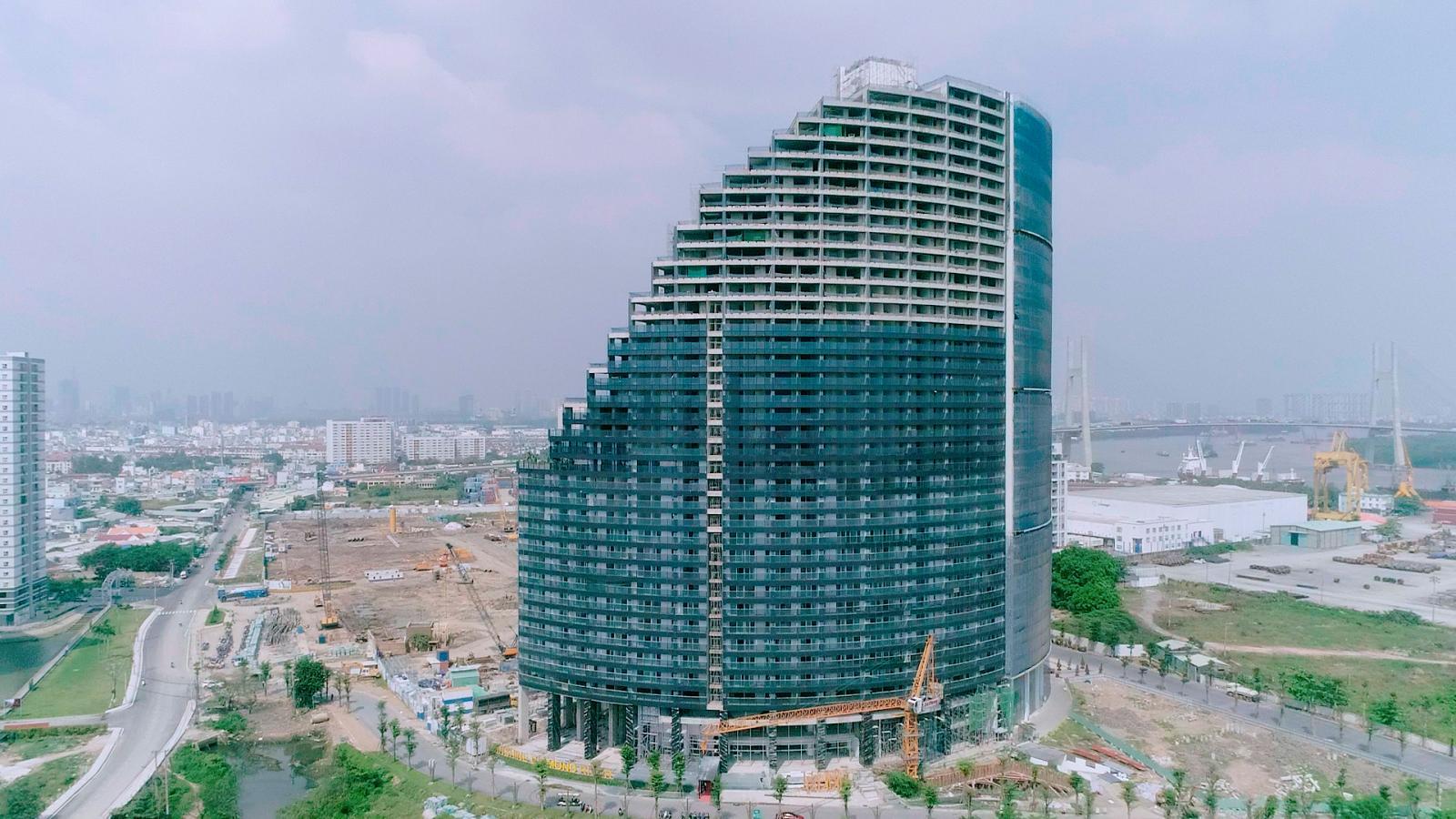 Block B-C dự án Sunshine Diamond River đang hoàn thiện mặt ngoài, chuẩn bị bàn giao