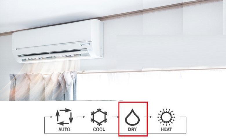 Trời nồm nên bật điều hòa chế độ hút ẩm
