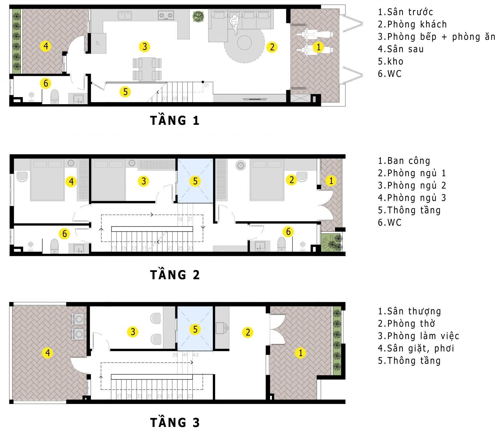 Thiết kế nhà phố 3 tầng phong cách hiện đại, trẻ trung cho gia chủ 9X