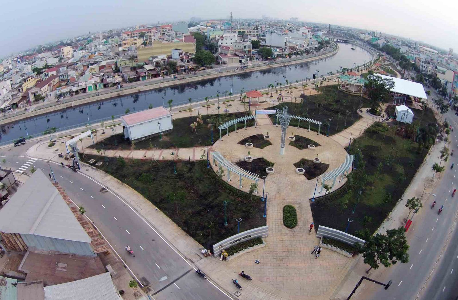Quận Tân phú nhìn từ trên cao