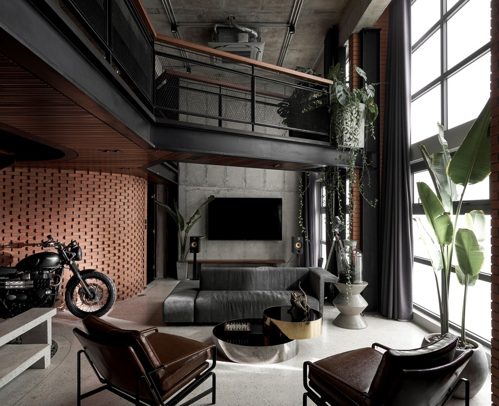 Căn hộ penthouse được thiết kế theo phong cách công nghiệp vừa sang trọng, vừa cá tính.