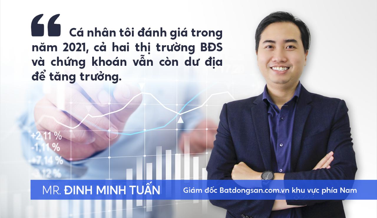 Ông Đinh Minh Tuấn nhận định về thị trường chứng khoán và BĐS năm 2021
