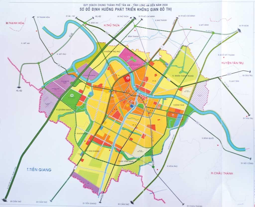 Bản đồ quy hoạch thành phố Tân An