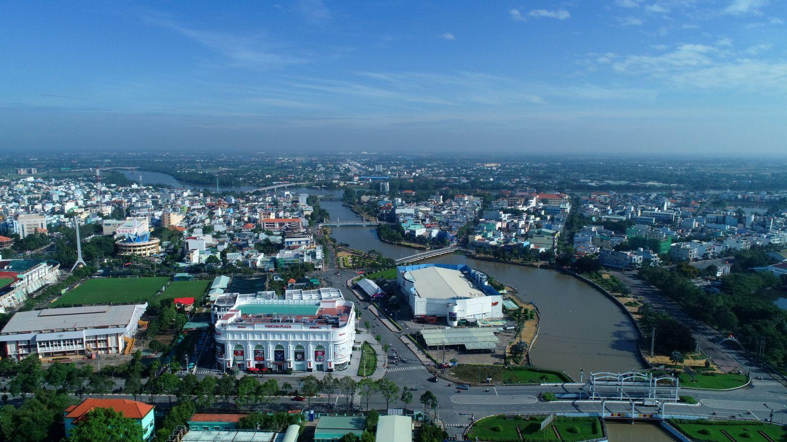 Thành phố Tân An nhìn từ trên cao