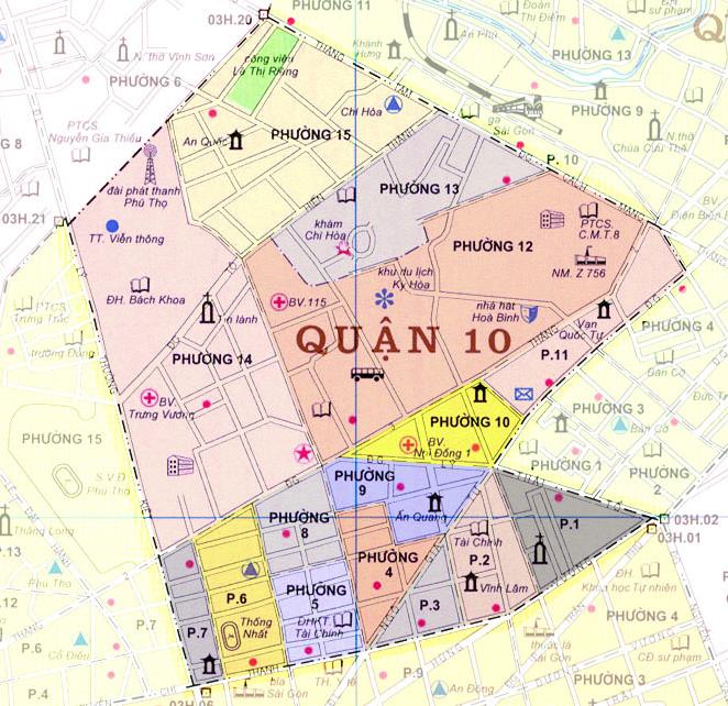 Bản đồ quận 10