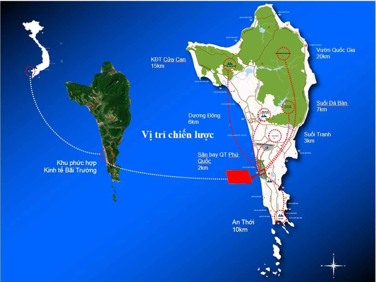 Vị trí dự án Selavia Bay Phú Quốc