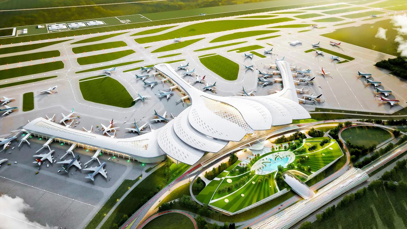 Hình ảnh bản thiết kế của sân bay Long Thành