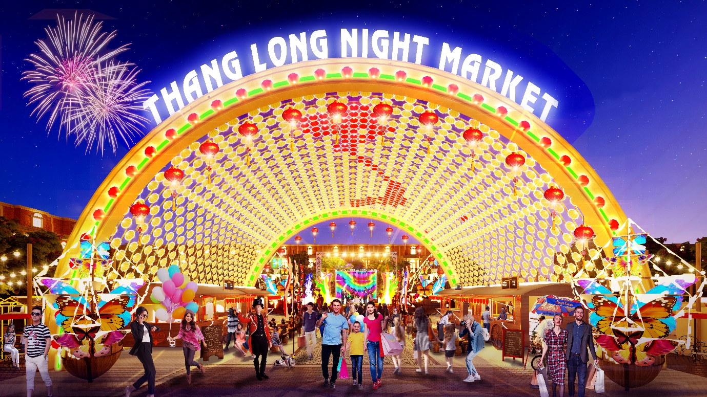 Phối cảnh chợ đêm Thăng Long Night Market