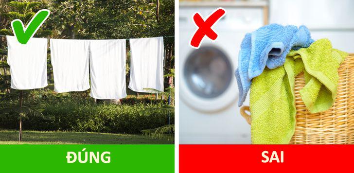 phơi khăn phòng tắm