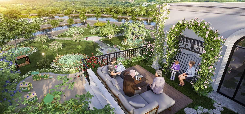 Không gian sống xanh mát với công viên, cây xanh