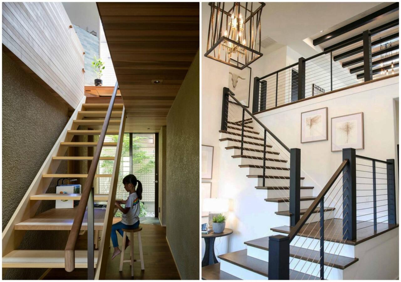 đảm bảo lan can cầu thang cao tối thiểu là 90cm
