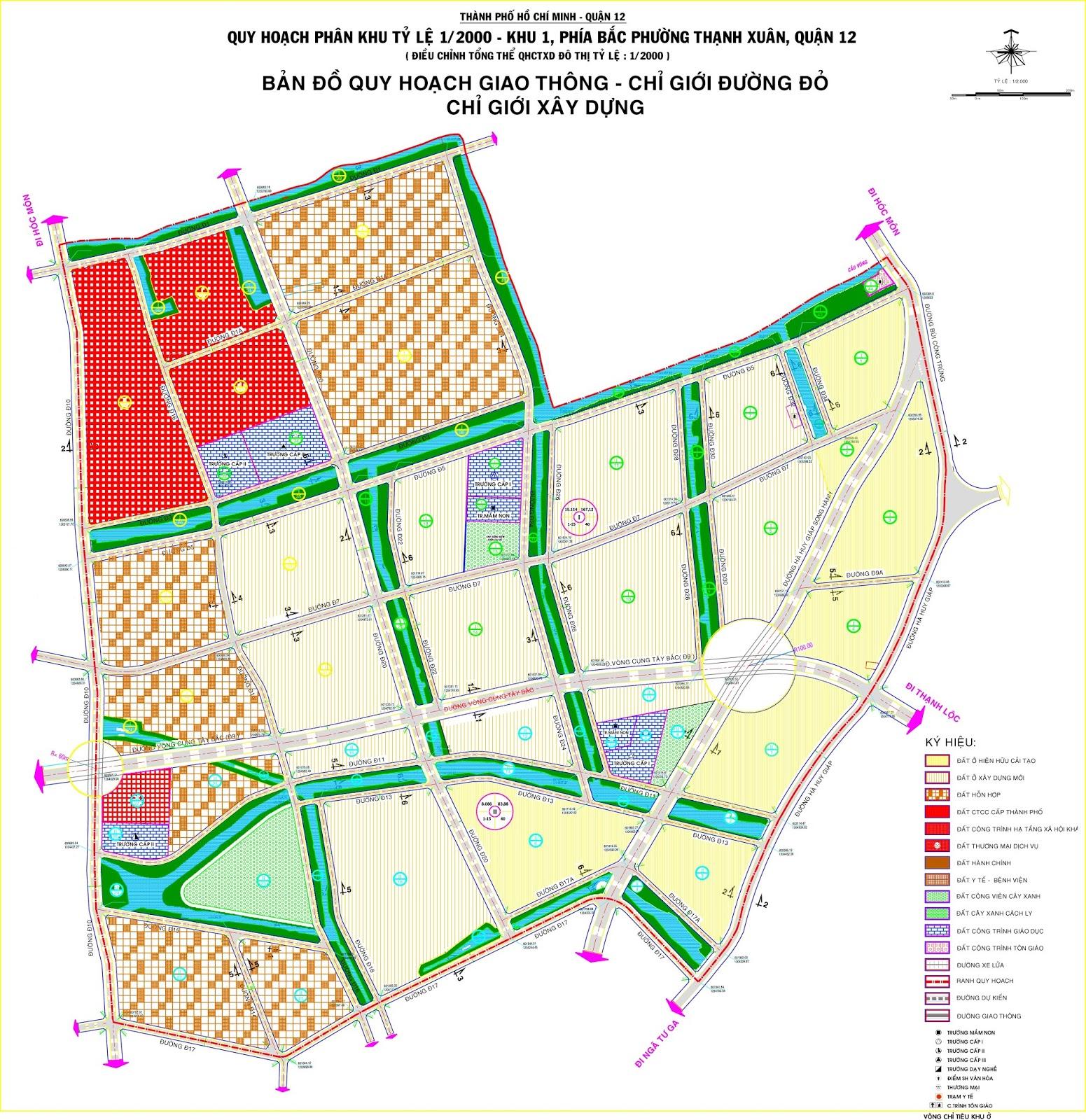 Bản đồ quy hoạch phường Thạnh Xuân, quận 12