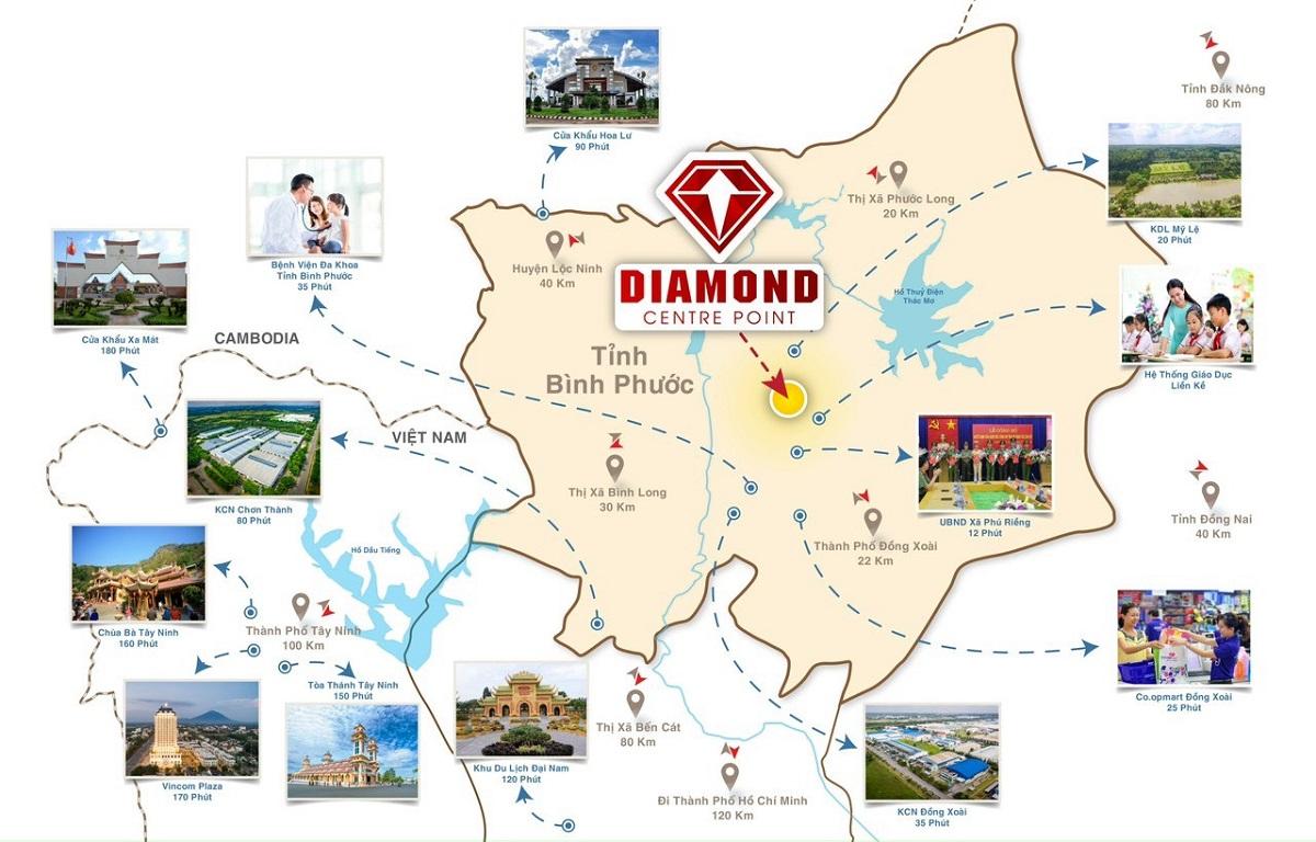 Vị trí dự án Diamond Center Point