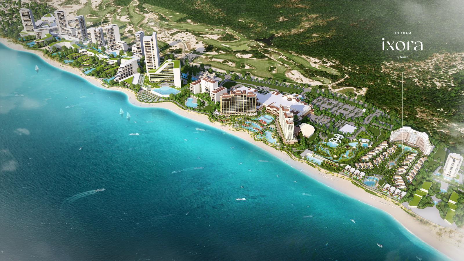 phối cảnh dự án nghỉ dưỡng ven biển