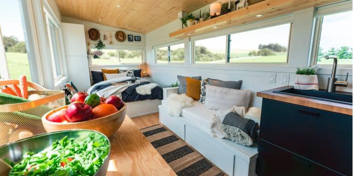 giường và sofa tích hợp không gian lưu trữ