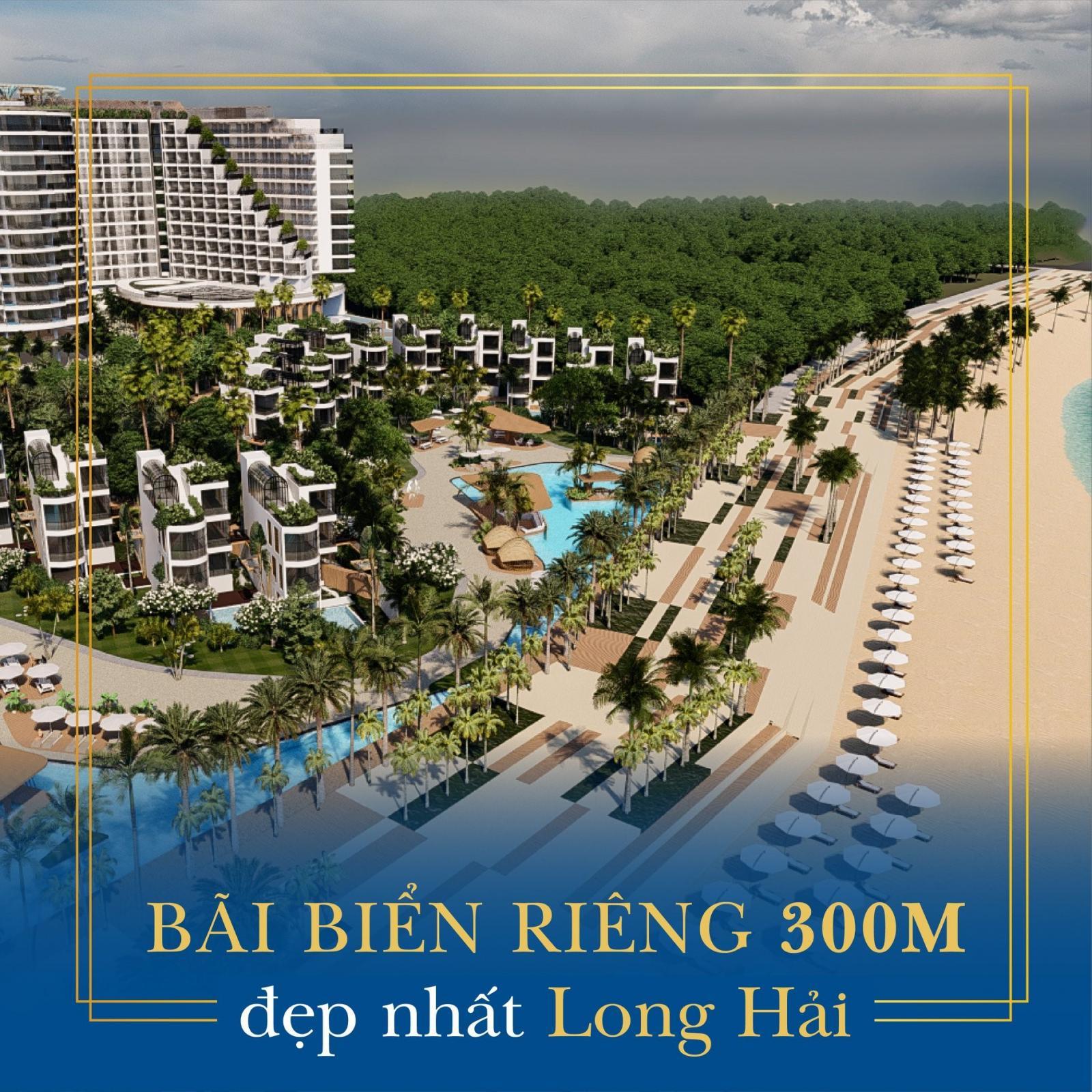 khu biệt thự nghỉ dưỡng nằm cạnh đường ben biển