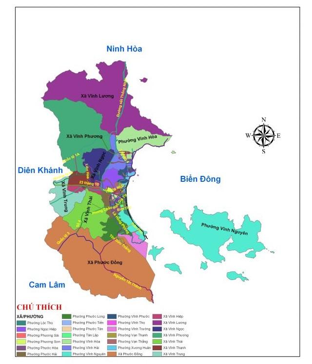 bản đồ hành chính nha trang
