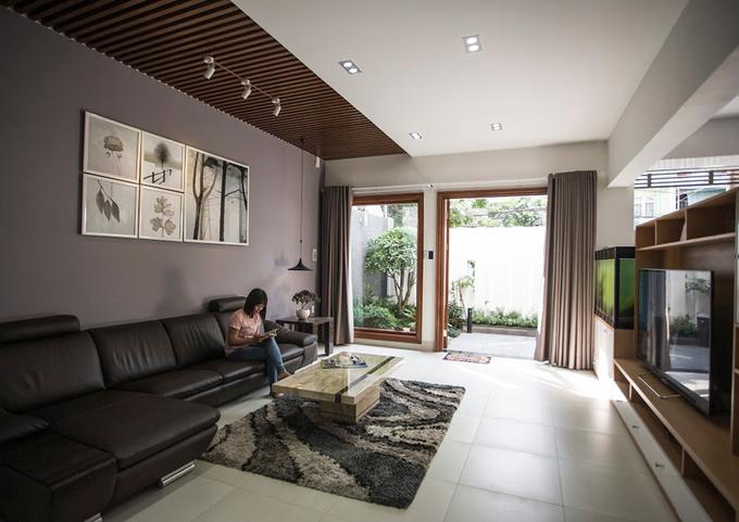 Thiết kế phòng khách mẫu nhà phố 4 tầng trên đất 8x15m